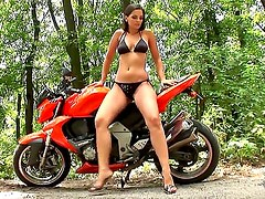 Eve Angel loves getting on a bike and showing