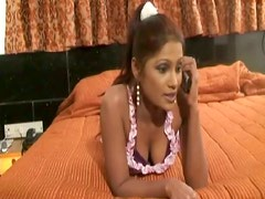 Sextractive Indian babe Laila talking dirty on the phone