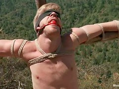Logan Stevens gets tied up in a forest and toyed