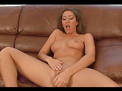 Babe masturbates with a toy and gets an orgasm