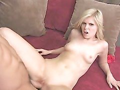 A hard pounding from a slutty blonde babe