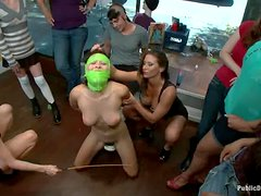 Ariel X enjoys being fucked by a group of lesbians