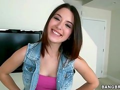 Adorable Daisy Summers does a striptease