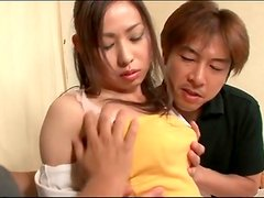 Two guys suck tits and lick pussy of Japanese girl