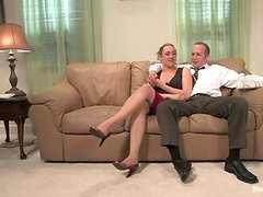 Dominant Gwen Diamond Rides His Dick Before Strapon Fucking His Ass