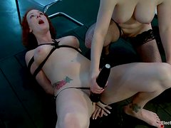 Audrey Hollander gets her ass fisted in group BDSM scene