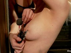 Horny Cherry Torn gets wired and toyed by Bobbi Starr
