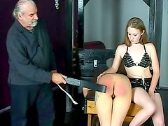 Young gal gets stimulated in BDSM