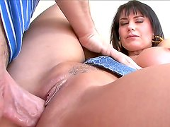 Gorgeous, busty MILF Eva Karera got her hands on a long, thick cock and she