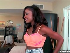 Cute young black chick Lexxi Deep solo