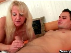 Sensual blowjob from mature with nice mouth
