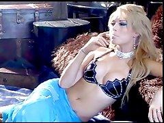Hot Sexy Blonde Smoking Solo (short clip)