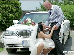 Limo driver bangs Victoria Blaze on the way to wedding