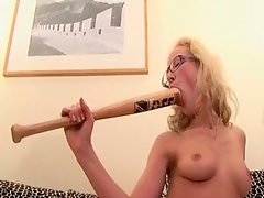 Dirty blonde hoe CASSANDRA in kinky piss drinking porn video