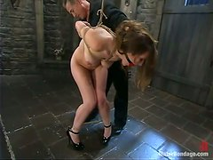Amazing Jade Marxxx gets bounded and put in water
