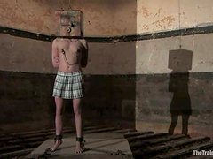 Sarah Jane Ceylon gets humiliated in a cellar and enjoys it