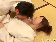 Mizuki rubs a prick and gets her cunt fucked remarcably well