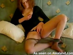 Wife so sexy in her black lingerie