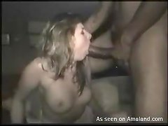 Horny wife filmed with BBC