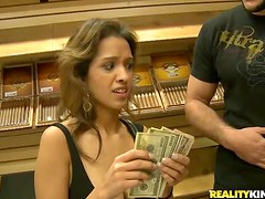Sex with amateur in cigar store