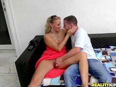 Valerie Rose sucks a dick and gets her vag pounded in many ways
