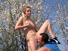 Sextractive blond teen hops on aroused dad in reverse cowgirl style