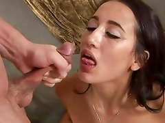 Saucy Amia Moretti gets saturated with warm dick juice