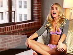 Traci Denee the hot Playboy model poses naked in a loft