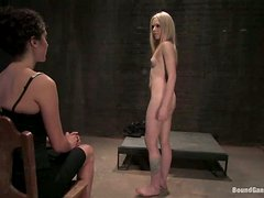 Skinny Sara Jayne Ceylon gets tied up and gangbanged