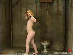 Madison Young enjoys some hydrotherapeutic procedures in a cellar