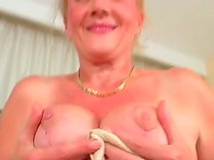Old disgusting blond bitch gets her cunt fucked mish and sucks a dick