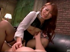 Stockings girl grinds on his cock for creampie