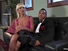 Antho gets his ass ripped apart by blonde tranny Jessica Host