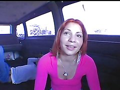 A big monster cock for a sexy redhead hopping in the bang bus