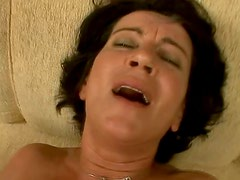 HOrn-mad mature brunette Katala gets her wet cunt pounded from behind