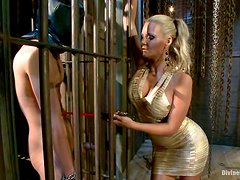 Blonde Mistress Tames A Sports Guy And Turns Him Into Her Slave!