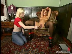 Anal and Pussy Toying and Teasing in Kinky BDSM Lesbian Video