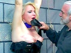 Blonde mature gets punished in BDSM