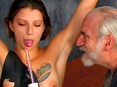 Young gal receives her punishment