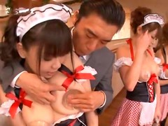 A few slutty Japanese maids get tormented with electricity