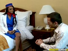 Petite Lavish Styles gets fucked hard and deep in a hotel