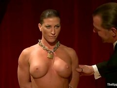 Ariel X and Odile give a blowjob and get tied up