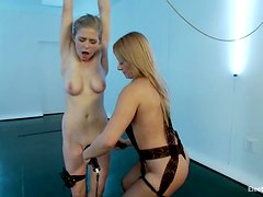 Lea Lexis binds and torments Penny Pax in an indoor BDSM scene