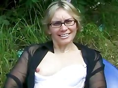 French People are Nasty - Old man and Blonde tattooed Milf