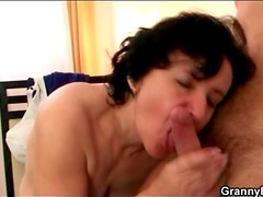 Hairy old cunt fucked doggystyle