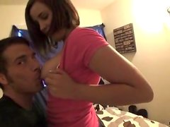 Exhibitionist couple films foreplay video