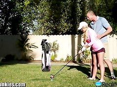 Golf Coach Fucks Teen Student