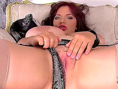 Watch the cool porn action with fascinating hottie Joanna Bliss! Big boobed babe stays