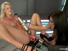 Courtney and Kendall get toyed by fucking machines