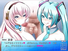 Turquoise idol is my smegma cleaner - Luka & Miku (Blowjob)